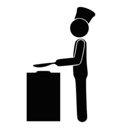 Chef Cooking Silhouette SVG Picture