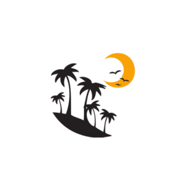 Light Of Moon - Moon With Trees SVG Picture