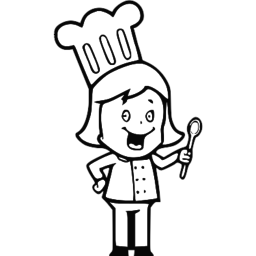 Small Girl Chef SVG Picture